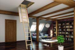 Лестница на чердак – выбор материала и варианта конструкции