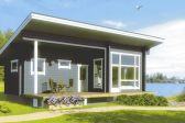Одноэтажный каркасный дом с односкатной крышей