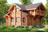 Рубленные фронтоны – конструкция и особенности строительства
