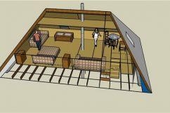 Конструкция стропильной системы четырехскатной крыши